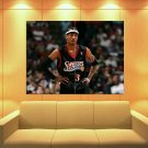 Allen Iverson Philadelphia 76ers Sixers Sport Huge Giant Print Poster