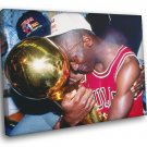 Michael Jordan 1991 Trophy Chicago Bulls Sport 30x20 Framed Canvas Print
