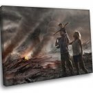 Family Post Apocalyptic Art Ruins 50x40 Framed Canvas Print