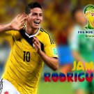 James Rodriguez Celebration Colombia Soccer Football 16x12 Print POSTER