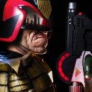 Judge Dredd Classic Comic Pistol Helmet Movie Art 32x24 Print Poster