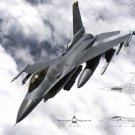 F 16 Fighting Falcon Fighting Aircraft US Air Force 16x12 Wall Print Poster