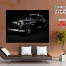 Mercedes Benz 1939 Retro Auto Black Classics Giant Huge Print Poster