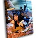 Uma Thurman Mia Wallace Pulp Fiction Movie 30x20 Framed Canvas Art Print