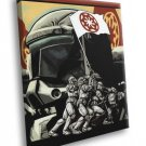 Clone Republic Commando Delta Art Star Wars 40x30 Framed Canvas Print