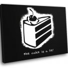 The Cake Is A Lie Portal Video Game Cool Art 30x20 Framed Canvas Print