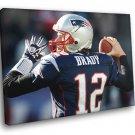 Tom Brady New England Patriots Football Sport 30x20 Framed Canvas Print
