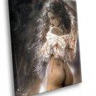 Luis Royo Fantasy Naked Woman Sexy Buns 30x20 Framed Canvas Art Print