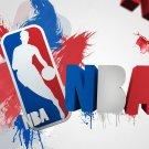 NBA Logo Artwork Art Basketball Sport 16x12 Print Poster
