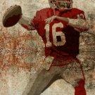 WV0040 Joe Montana San Francisco 49ers Painting Football 16x12 Print Poster