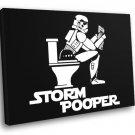 Stormtrooper Funny Artwork Toilet Star Wars 40x30 Framed Canvas Print