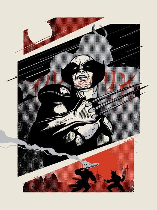 Wolverine Japanese Comic Cool Art Artwork 24x18 Print Poster