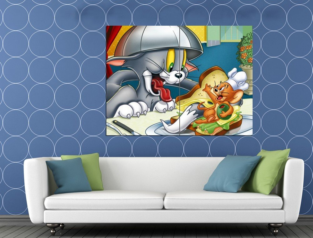 Tom And Jerry Cool Funny Original Series Cartoon Art HUGE 48x36 Print POSTER