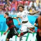 Jermaine Jones Header USA Brazil Soccer Football 24x18 Wall Print POSTER