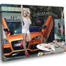 Mandy Lange Audi Hot Sexy Babe Woman Car 50x40 Framed Canvas Print