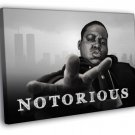 The Notorious BIG Portrait Biggie Smalls Rap 40x30 Framed Canvas Print