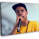 Earl Sweatshirt Microphone Rapper Hip Hop Rap 40x30 Framed Canvas Print
