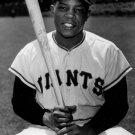 Willie Mays New York Mets Classic Bw Baseball Sport 16x12 Print Poster