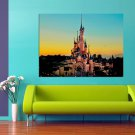 Fairy Castle Disneyland Paris 47x35 Print Poster