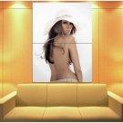 Jennifer Lopez Singer Dancer Model Naked Back White Hat 47x35 Print Poster