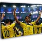 Juan Cuadrado Colombia FIFA World Cup Football 50x40 Framed Canvas Print