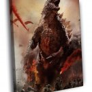 Godzilla 2014 Awesome Movie Soldiers 50x40 Framed Canvas Print