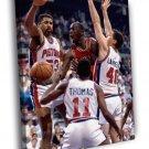 Michael Jordan Chicago Bulls Detroit Pistons 50x40 Framed Canvas Print