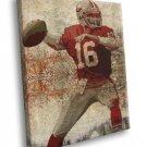 Joe Montana San Francisco 49ers Painting Football 40x30 Framed Canvas Print
