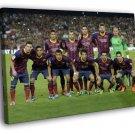 Barcelona FC Squad Valdes Pique Messi Neymar 40x30 Framed Canvas Print