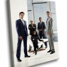White Collar TV Series Cast 40x30 Framed Canvas Art Print