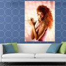 Whitney Houston Rare Young Beautiful Hot Retro Singer HUGE 48x36 Print POSTER