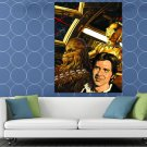 Millennium Falcon Chewbacca Han Solo C 3PO Star Wars HUGE 48x36 Print POSTER