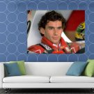 Ayrton Senna Da Silva Formula One Race Driver Portrait HUGE 48x36 Print POSTER
