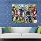 Fairy Tail Characters Anime Manga Art HUGE 48x36 Print POSTER