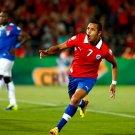 Alexis Sanchez Goal Chile Ecuador FIFA World Cup Brazil 32x24 Wall Print POSTER