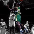 Shawn Kemp Dunk Seattle SuperSonics Retro BW Art 24x18 Wall Print POSTER