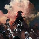 Sith Force Clone Troopers Battle Star Wars Painting 16x12 Print POSTER
