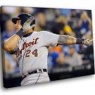 Miguel Cabrera Baseball Detroit Tigers Sport 50x40 Framed Canvas Art Print