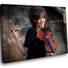 Lindsey Stirling Violinist Dancer 40x30 Framed Canvas Art Print