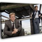 Rust Cohle Marty Hart True Detective Matthew 30x20 Framed Canvas Print