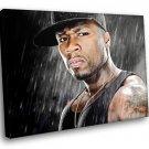50 Cent Rapper Tattoo Rain Cool Hip Hop Music 40x30 Framed Canvas Art Print