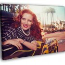 Jessica Chastain Beautiful Hot Actress 40x30 Framed Canvas Print