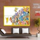 All Pokemon Pikachu Anime Characters Amazing Art GIANT Huge Print Poster