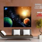 Solar System Planets Space Giant Huge Print Poster