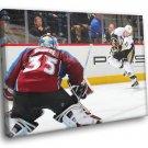 Jean Sebastien Giguere Colorado Avalanche Goaltender 50x40 Framed Canvas Print