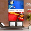 Megaman Proto Man Blues Rockman Mega Man Video Game GIANT Huge Print Poster