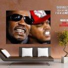 Juicy J Teeth Portrait Rapper Hip Hop Music Rap GIANT Huge Print Poster