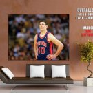Bill Laimbeer Detroit Pistons Retro Basketball Sport Giant Huge Print Poster