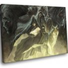 The Legend Of Zelda Characters Wolf Art 50x40 Framed Canvas Print