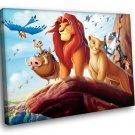 The Lion King Cartoon Simba Nala Timon And Pumbaa 50x40 Framed Canvas Art Print